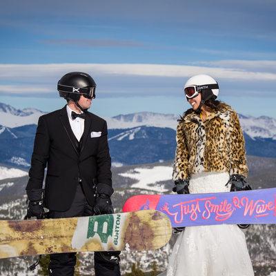 Breckenridge Ski Resort wedding photo Colorado