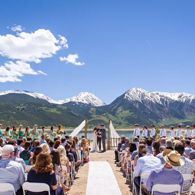 Twin Lakes wedding photography in Leadville, Colorado