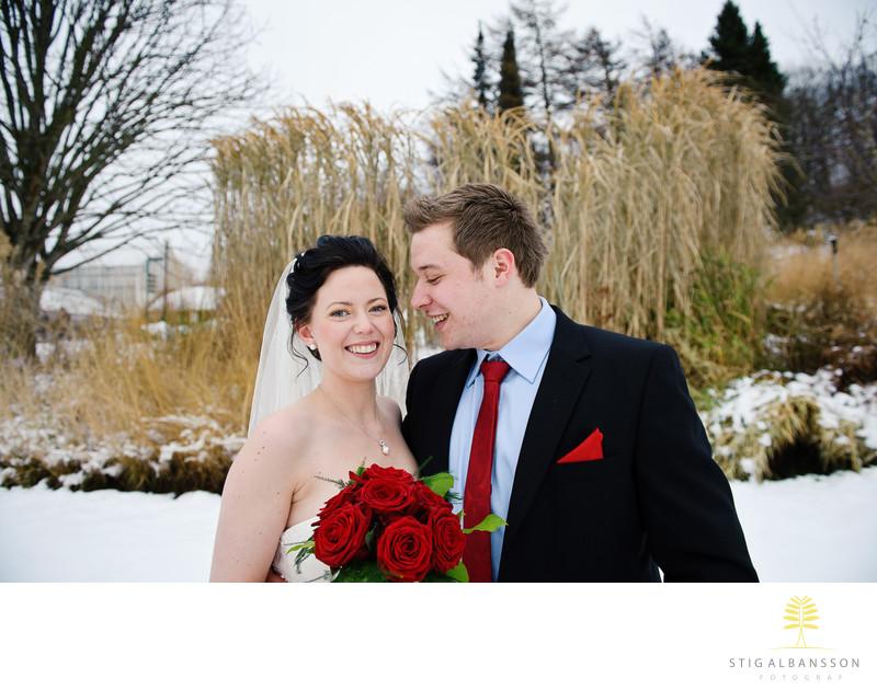 Ungt norskt brudpar som åkt till Göteborg för att vigas