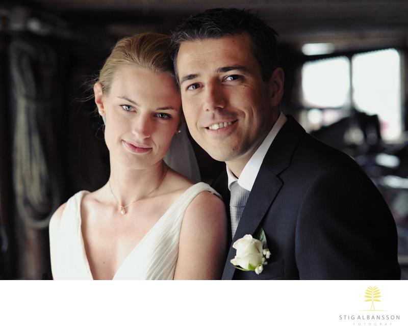 Bröllopsporträtt i fiskebod Skärhamn