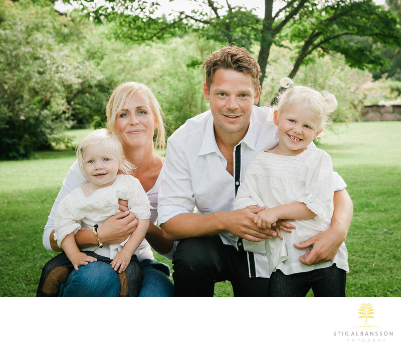 Familjefotograf Göteborg - Foto i  Botaniska trädgården