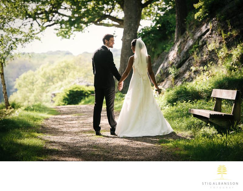 Bröllopsfotograf Göteborg - Brudpar Tjolöholms slott