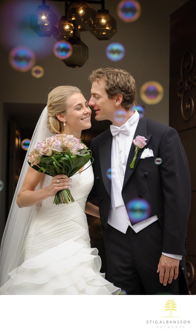 Vigsel i samband med bröllop på Bjertorp slott