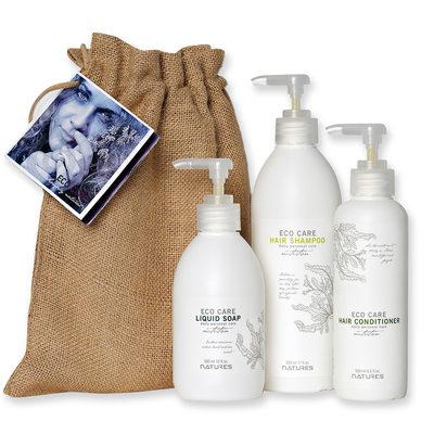 Produktfoto Natures - vita pumpflaskor & naturmaterial