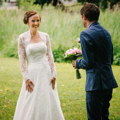 Bröllopsfoto - Första Möte vid Aspenäs Herrgård Lerum