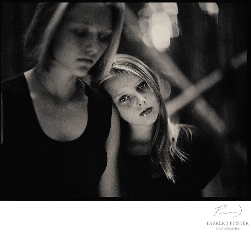 Sisters Portrait Photographer in Asheville NC