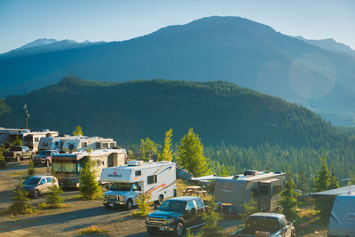 Commercial photography at the Whistler RV Park