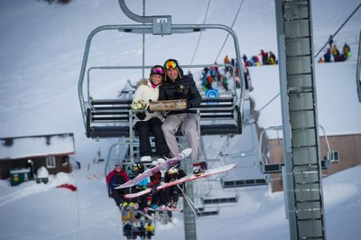 Ski wedding photography on Whistler Blackcomb
