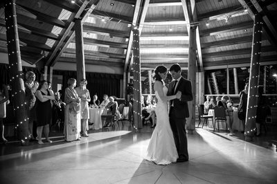 First dance wedding photo from the SLCC in Whistler, BC