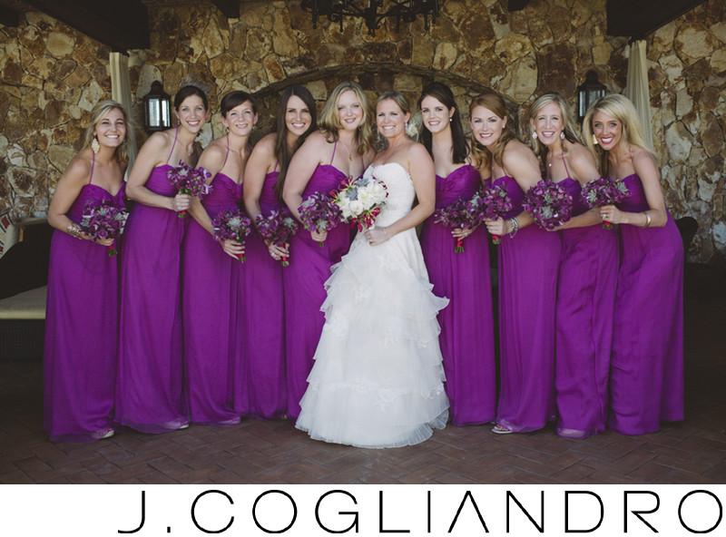 Beautiful Bridal Party Wedding Portraiture in Los Cabos