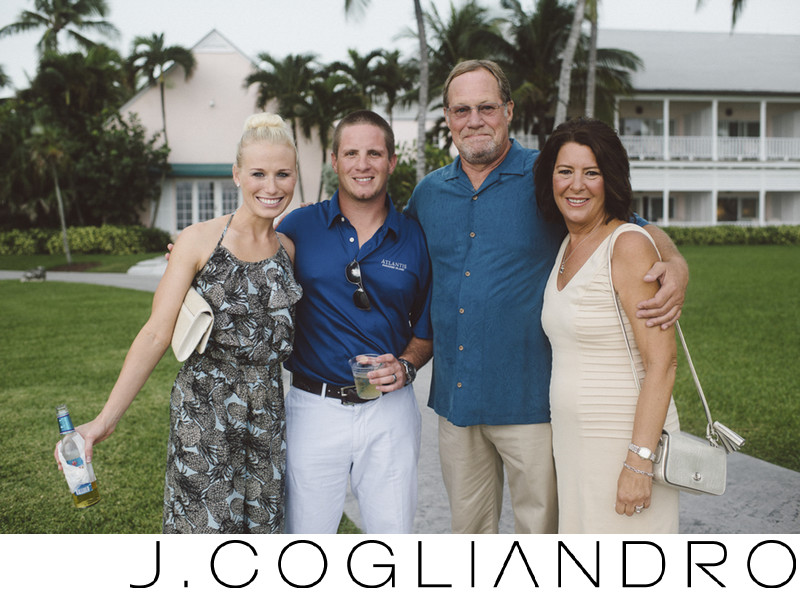 Rehearsal Dinner Family Portraiture in The Bahamas