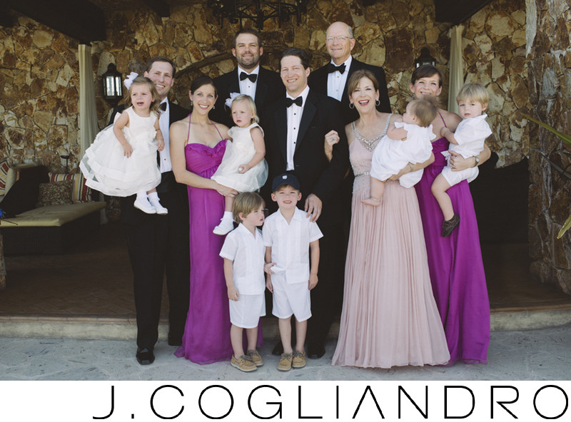 Family Portraiture for Destination Weddings in Mexico