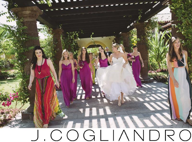 The Bridal Party at Destination Wedding in Los Cabos