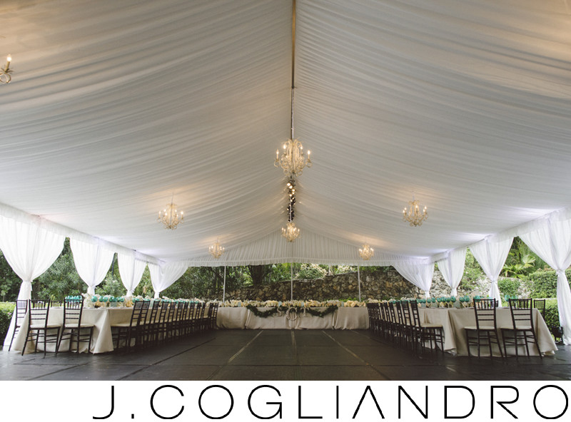 Tented Reception Venue Photography in The Bahamas