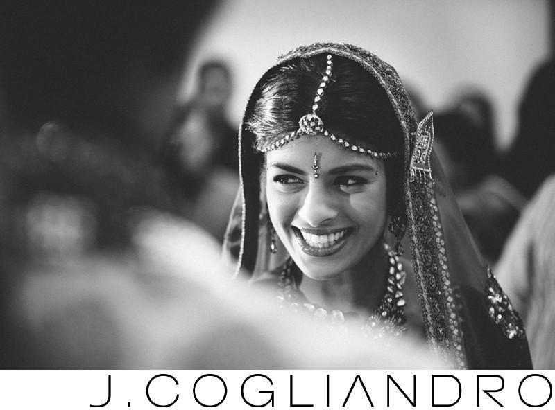 Glittering Indian Bride in Houston Wedding