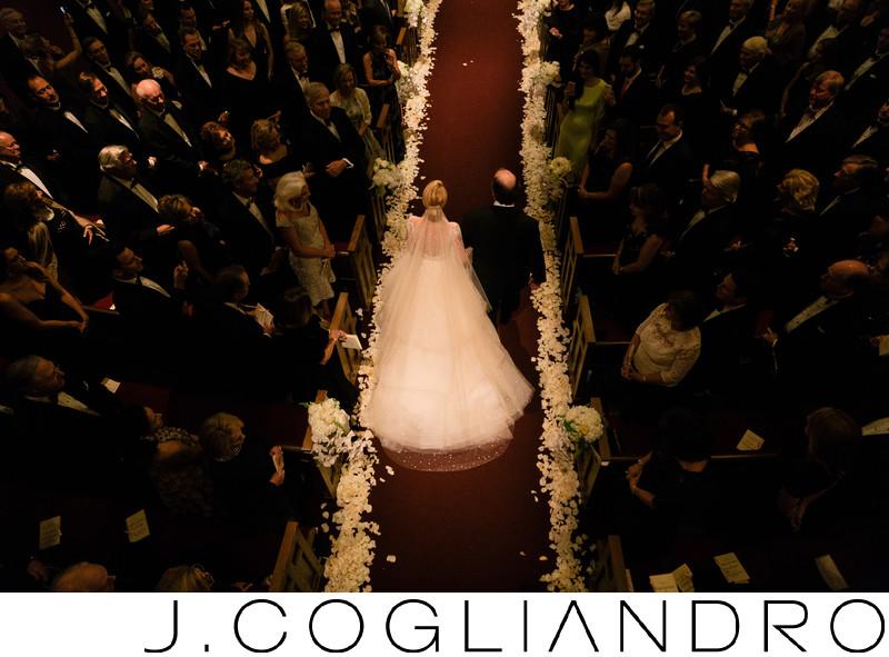 Bride Walks the Aisle at Chapelwood United Methodist