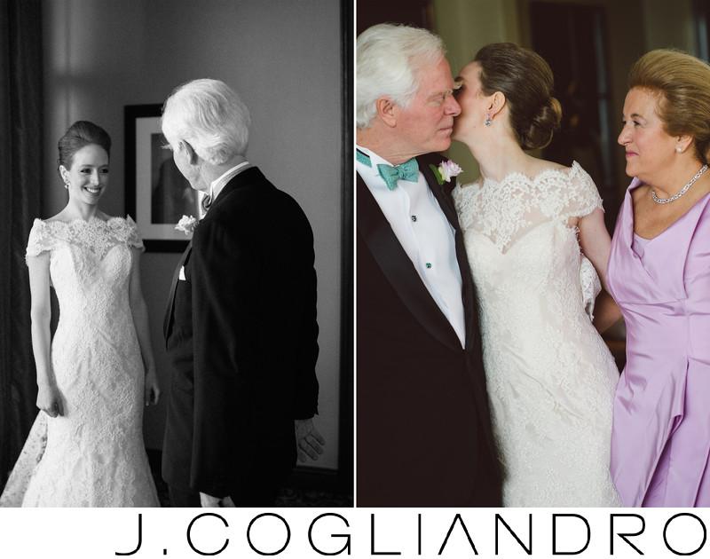 Bride Greets Her Parents Houston Wedding Photography