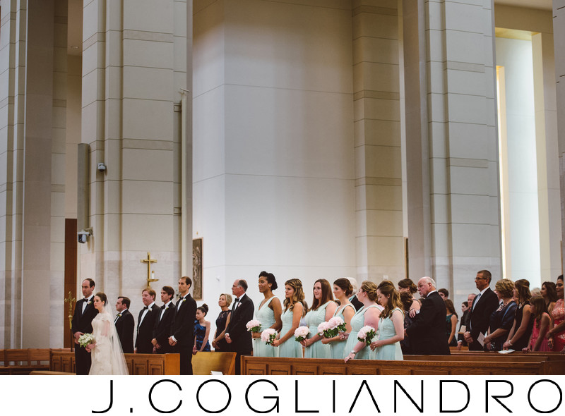Dramatic Wedding at Co-Cathedral of the Sacred Heart