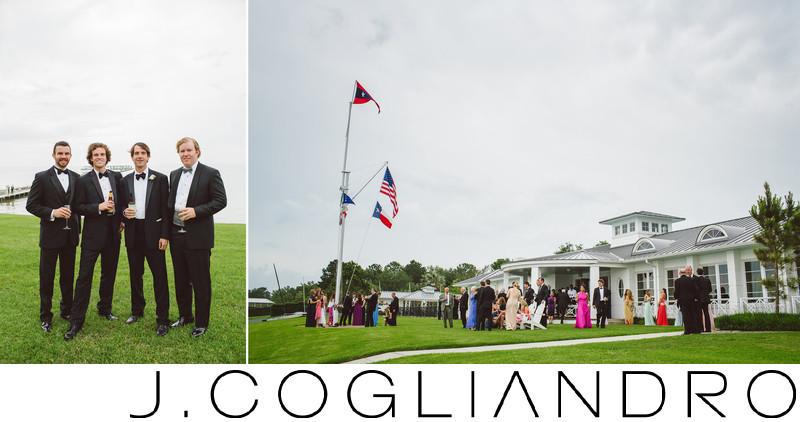 Cheerful Wedding Guests at Texas Corinthian Yacht Club
