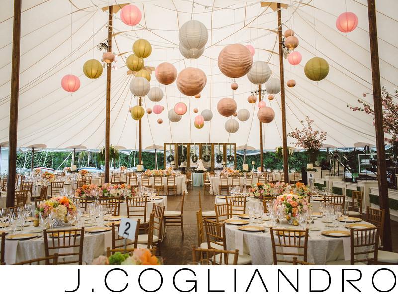 Glittering Reception Decor Texas Corinthian Yacht Club
