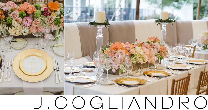 Reception Plate Settings at Texas Corinthian Yacht Club