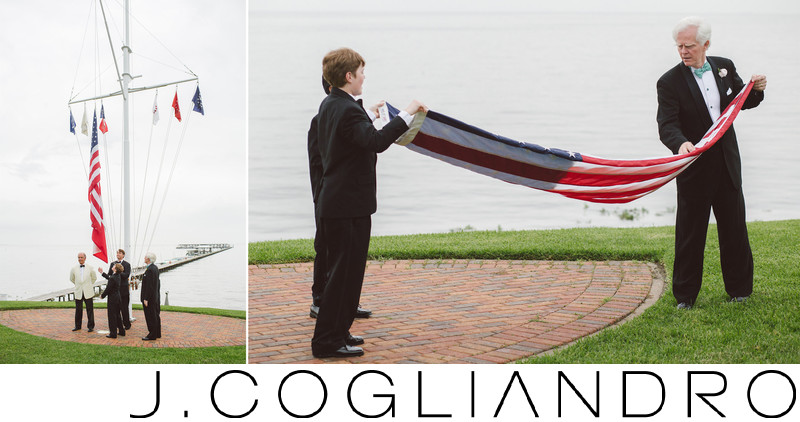 Lowering the Flag at Texas Corinthian Yacht Club