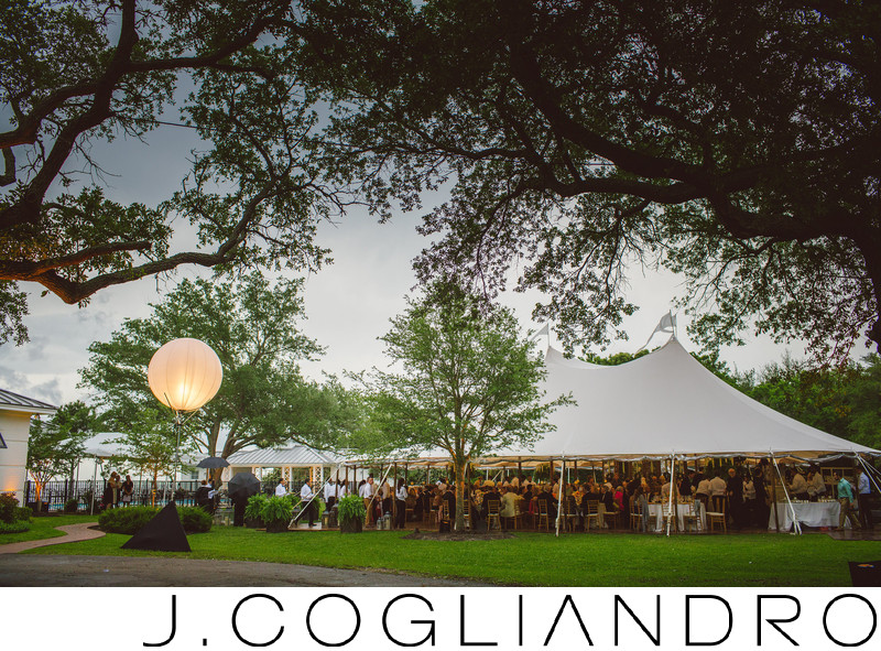 Tented Reception at Texas Corinthian Yacht Club Houston