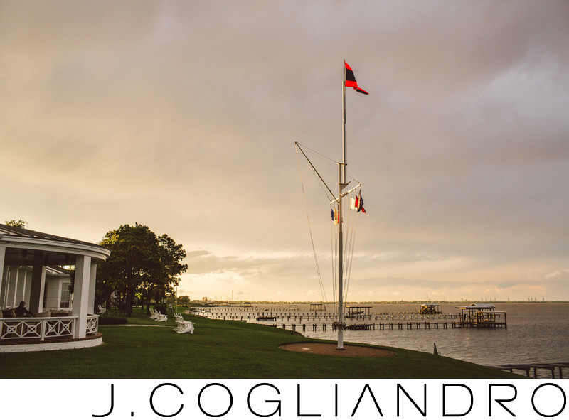 Docks at Dusk Texas Corinthian Yacht Club Weddings