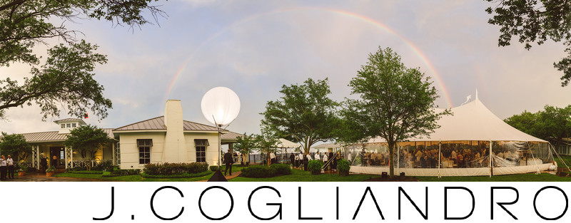 Reception Rainbow at Texas Corinthian Yacht Club
