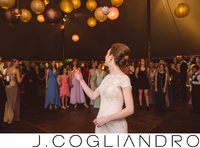 Bouquet Toss Reception at Texas Corinthian Yacht Club