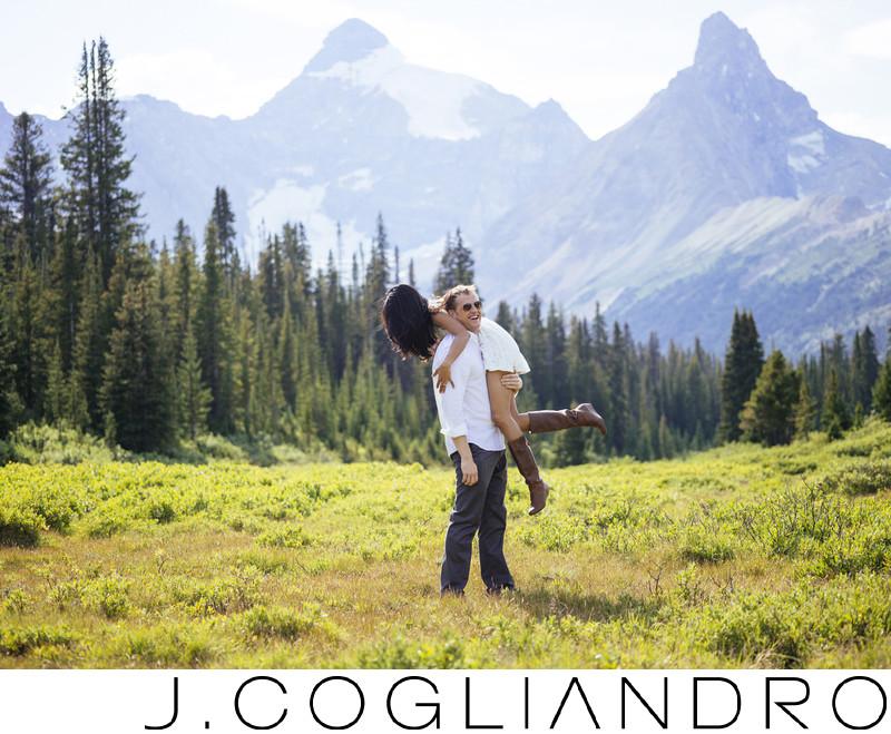 Banff Engagement Photo