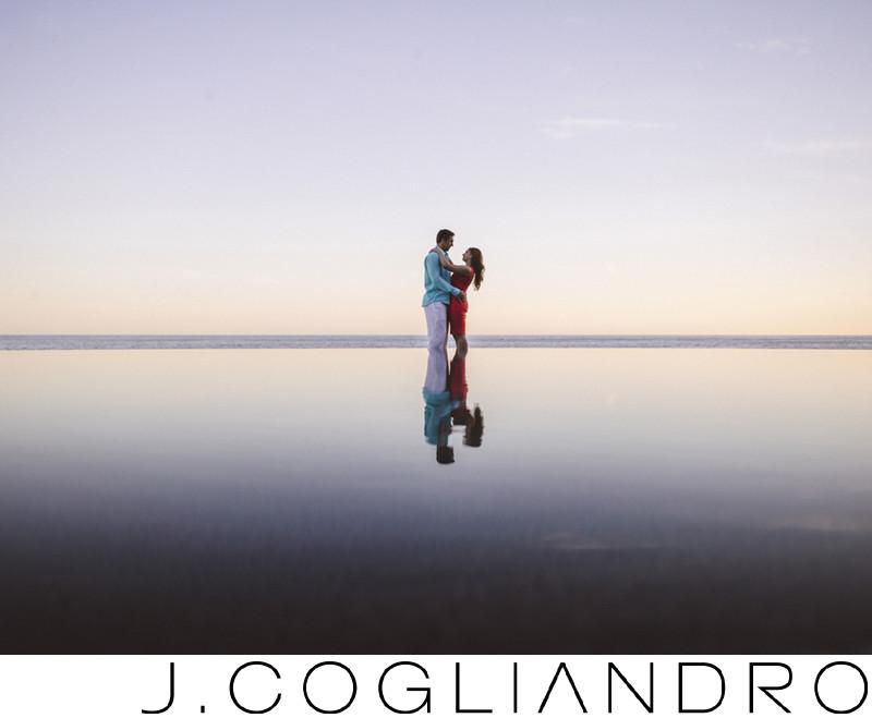 Mexico Destination Engagement Wedding Photographer - Sunset