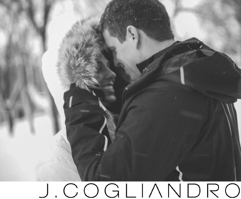 Winter Engagement Photography in Quebec City