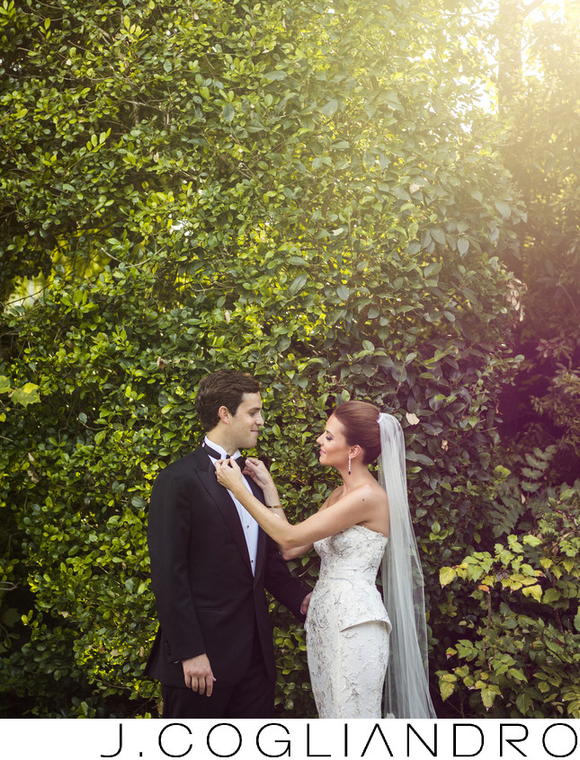 Adjusting the Tie Houston Wedding Photographer