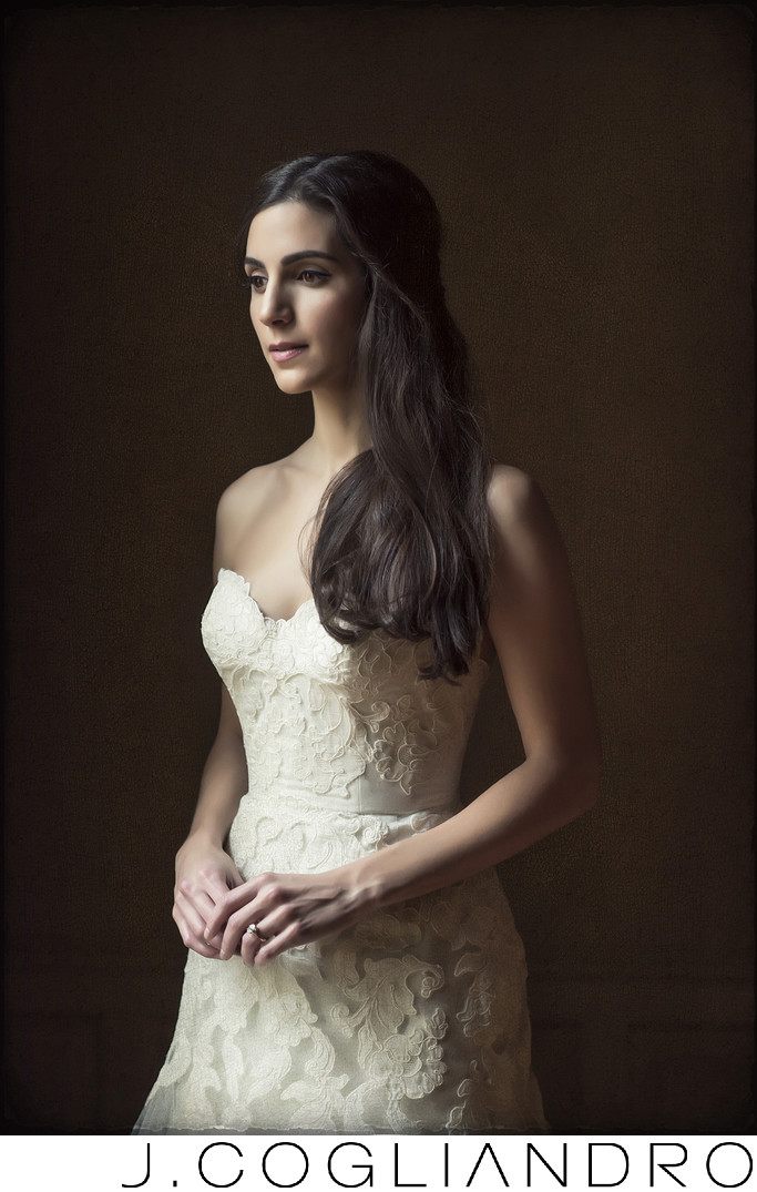 Elegant Bride Portrait at Memorial in Houston