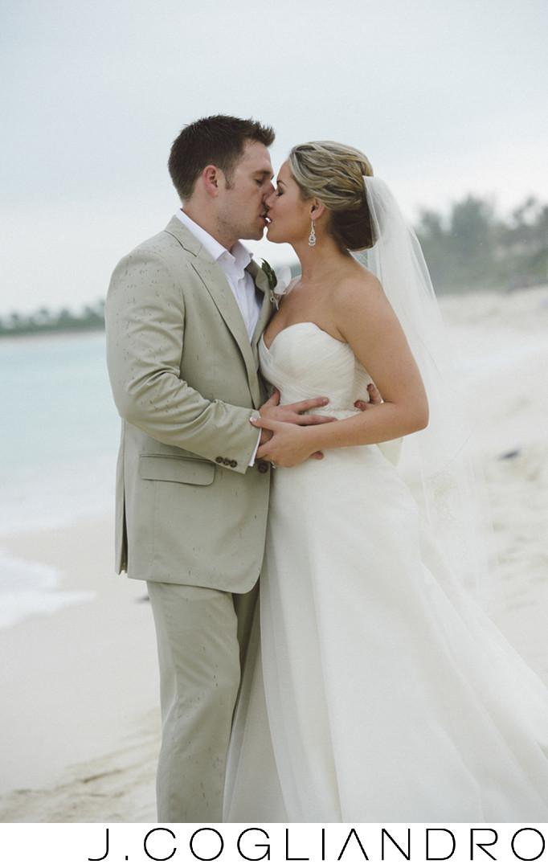 A Romantic Kiss Destination Wedding Photography Bahamas