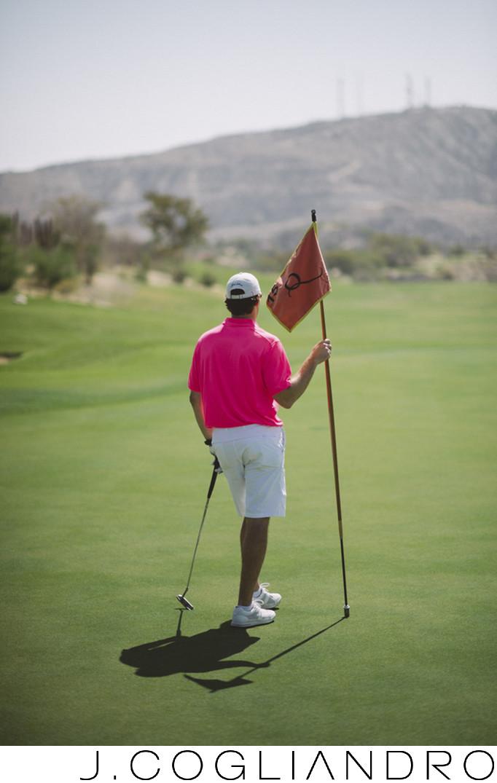 Groom Enjoys Wedding Golf at Querencia Golf Club Mexico
