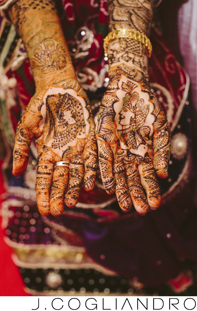 Beautiful Henna Art Indian Wedding Photography in Houston