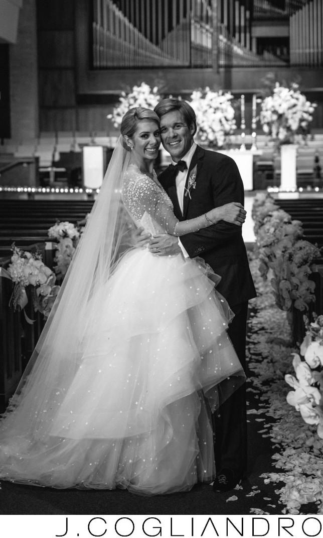 Bride and Groom Portrait River Oaks Wedding photography