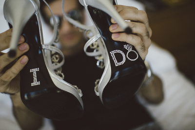 The Bride's Shoes at Epic Hotel in Miami Weddings
