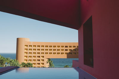 View from the Hotel Lobby from the Westin in Cabos San Lucos, Mexico.