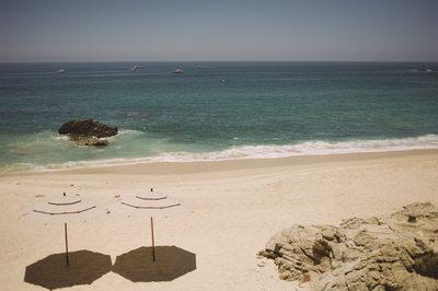 Beach Umbrellas Best Mexico Wedding Photography