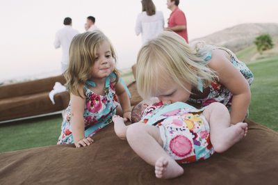 Children at Welcome Party Querencia in Los Cabos Mexico