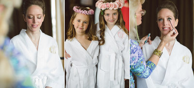Bridal Make-Up and Girls' Floral Wreaths Houston