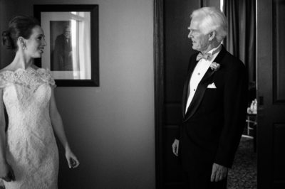 First Look at the Bride at Hotel Zaza Houston Weddings