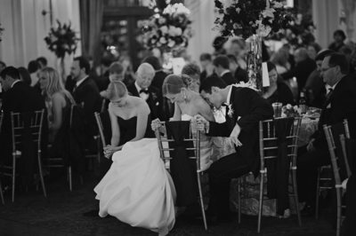 Bride and Groom at Crystal Ballroom Reception