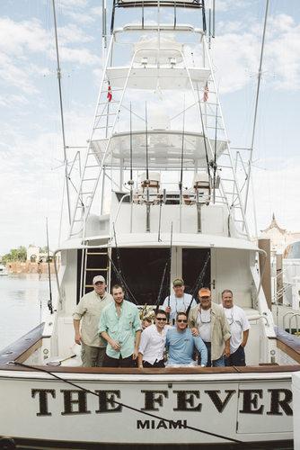 Groomsmen Fishing Trip Wedding Day Photography Bahamas