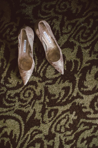 Shiny Rose Heels Bridal Photography in Houston