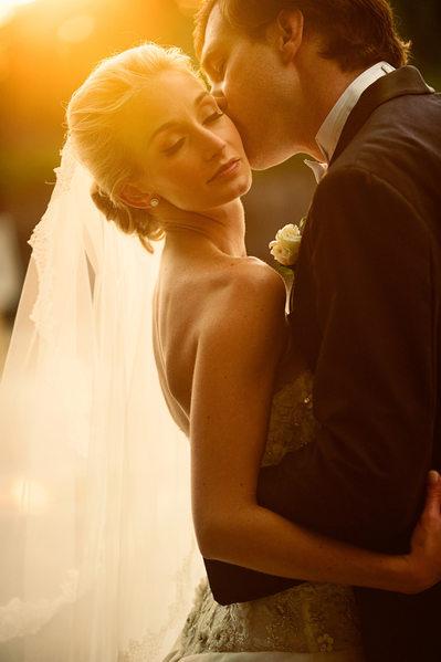 Bride and Groom at Sunset at Hotel Zaza