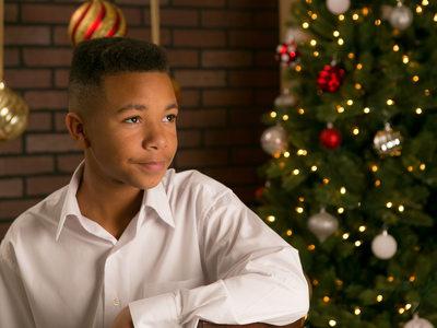Isaac Christmas Portrait